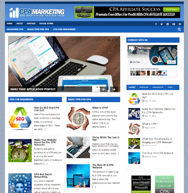 CPA Blogger PLR Site