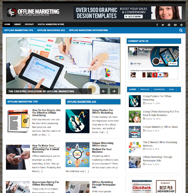 Offline Marketing PLR Blog