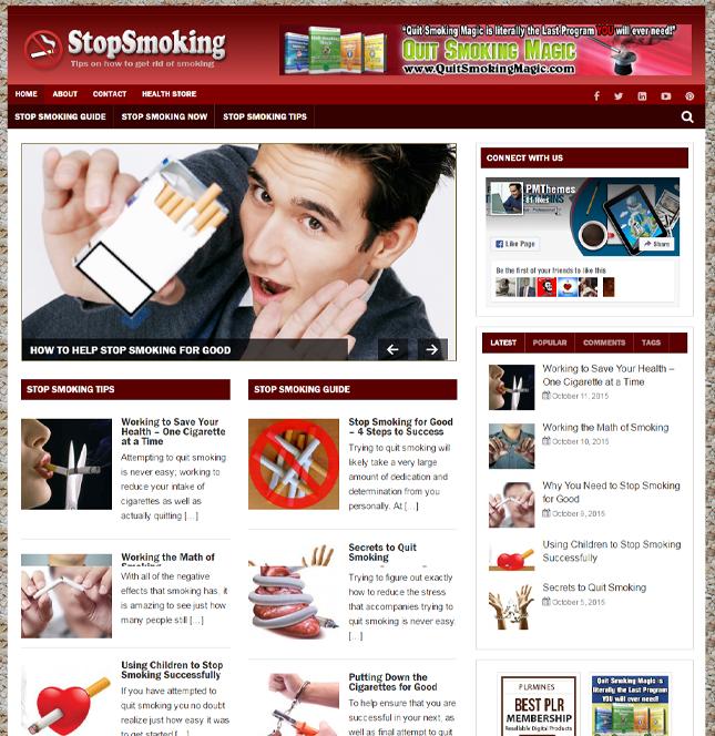 Stop Smoking PLR Blog