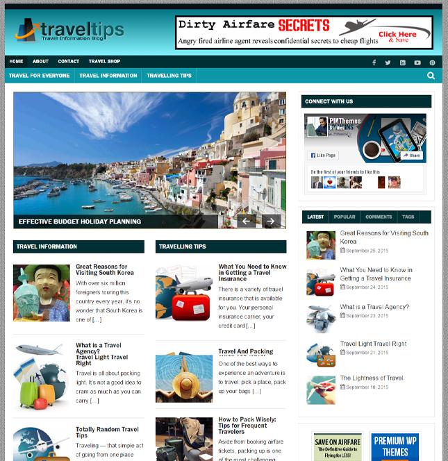 Travel Niche PLR Blog