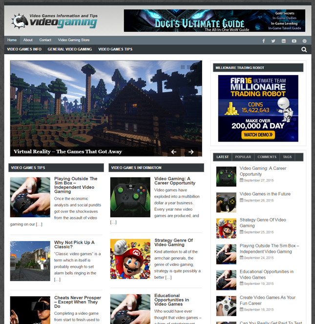 Video Gaming PLR Blog