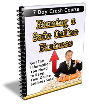run a safe onine  business plr ebook