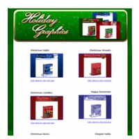 12 Matching Sets Of Christmas Holiday Graphics