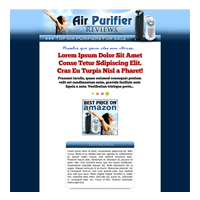 Air Purifiers Niche Site