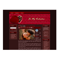 Chocolate Valentine HTML and WordPress Theme