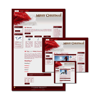 Christmas Theme for WordPress and Blogger