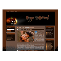 Halloween Pumpkin WP Theme
