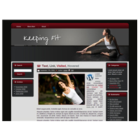 Keeping Fit Theme for WordPress and Blogger 1