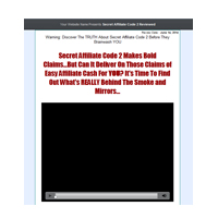 Secret Affiliate Code 2 Presell Template