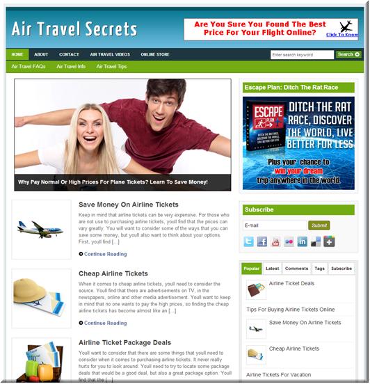 Air Travel PLR Blog