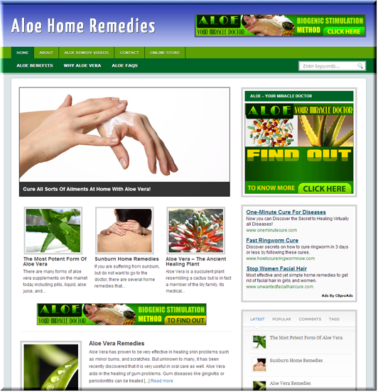 Aloe Remedies PLR Site