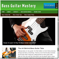 Bass Guitar Turnkey Site
