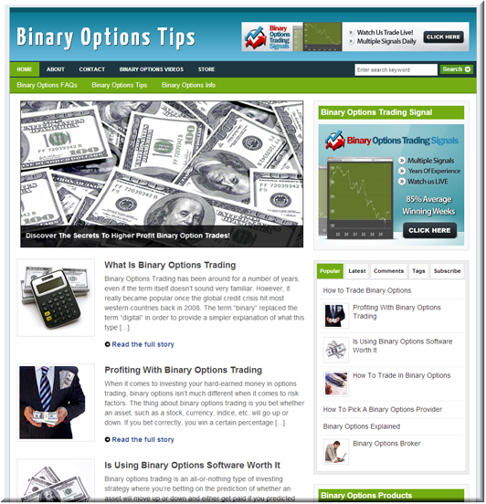 Binary Options PLR Blog