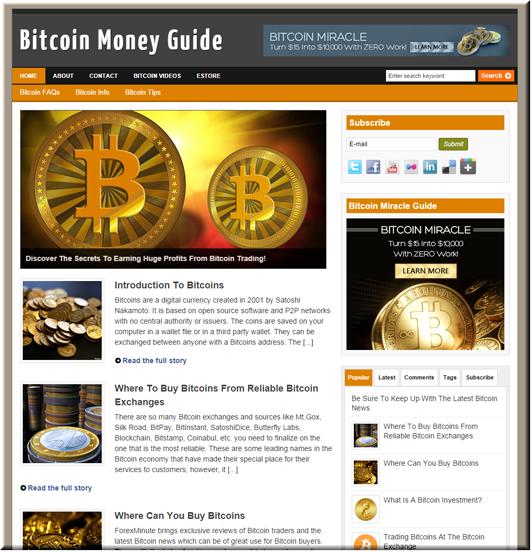 Bitcoin Niche PLR Blog