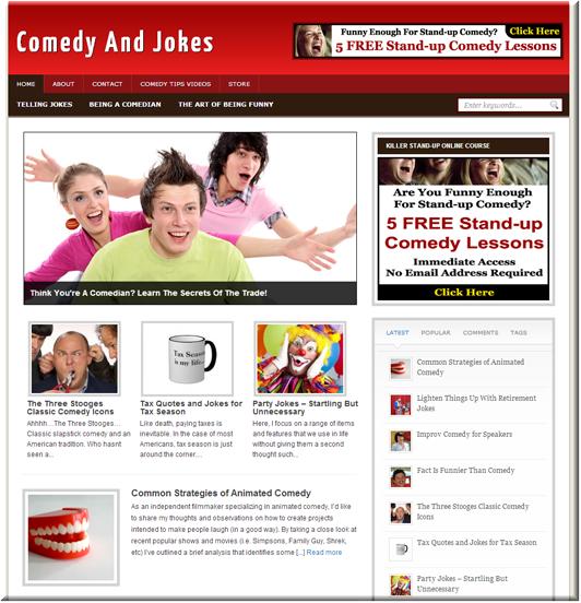 Comedy Niche PLR Blog