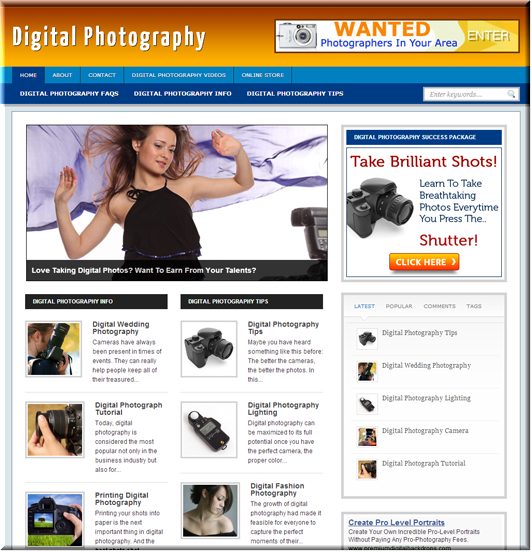 Digital Photography Niche Blog