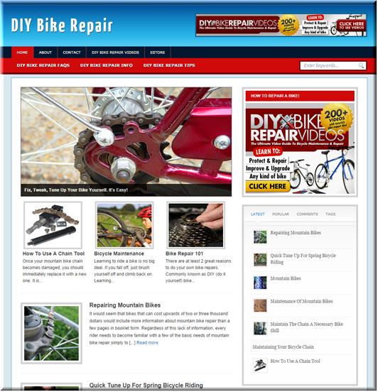DIY Bike Repair Niche Blog