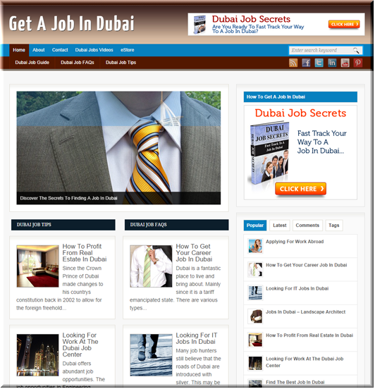 Dubai Jobs PLR Site