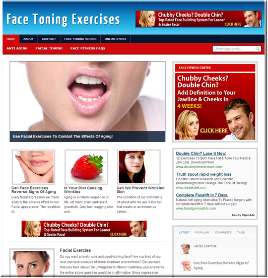 Face Fitness Turnkey Site