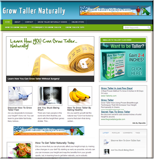 Grow Taller Niche Blog