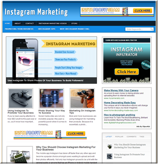 Instagram Marketing Site