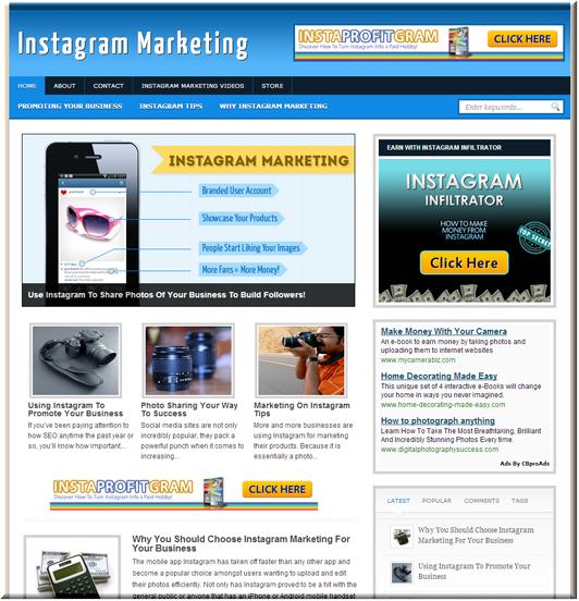 Instagram Marketing Site