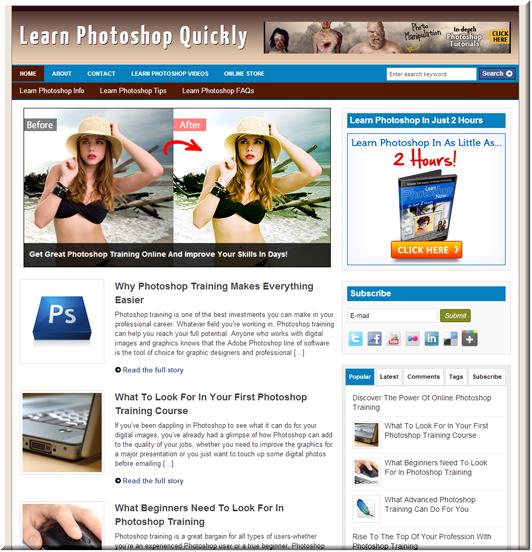 Learn Photoshop PLR Site
