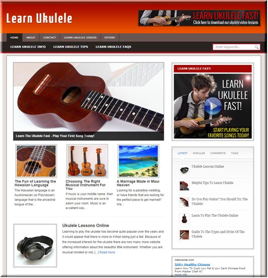 Learn Ukulele Niche Site
