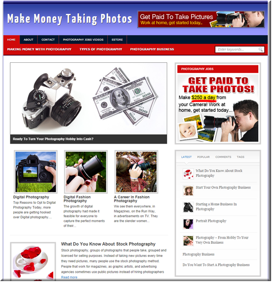 Make Money From Photography PLR