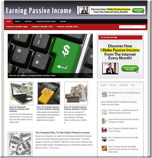 Passive Income PLR Site
