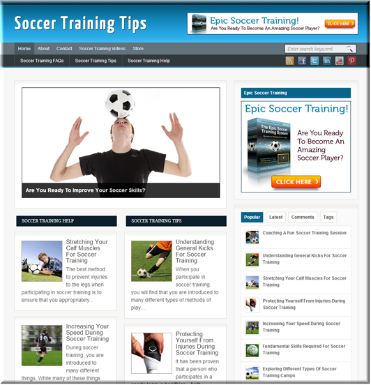 Soccer Training Turnkey Blog