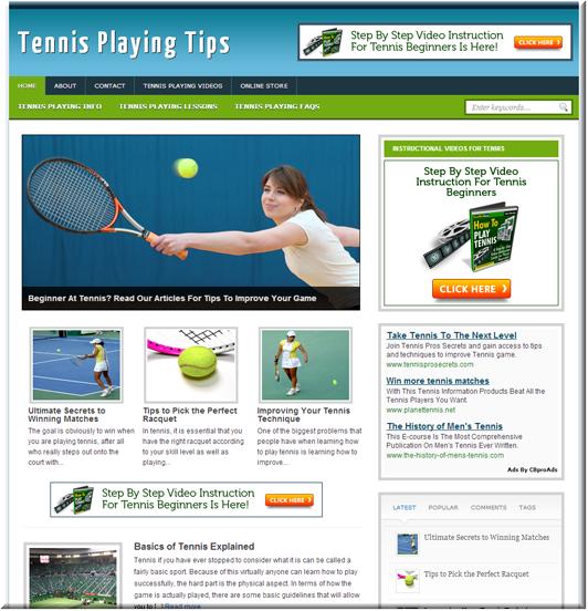 Tennis Niche PLR Site