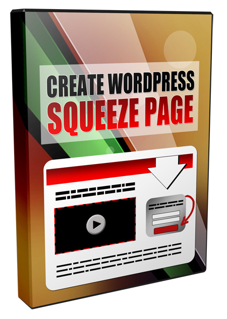 Create WordPress Squeeze Page