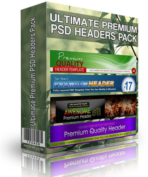 Ultimate Premium PSD Headers Pack