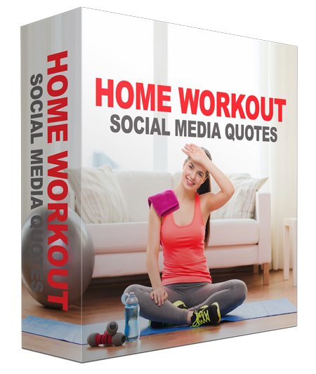 Home Workout Fitness Social Quotes Images