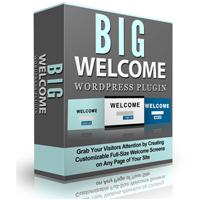 Big Welcome Plugin