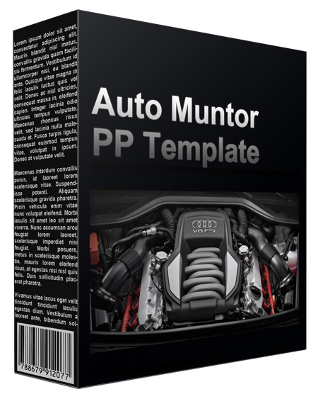 Auto Muntor Multipurpose Powerpoint Template
