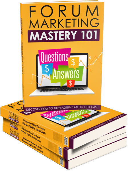 Forum Marketing Mastery 101 - Upsell