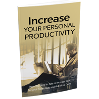 Increase Your Personal Productivity