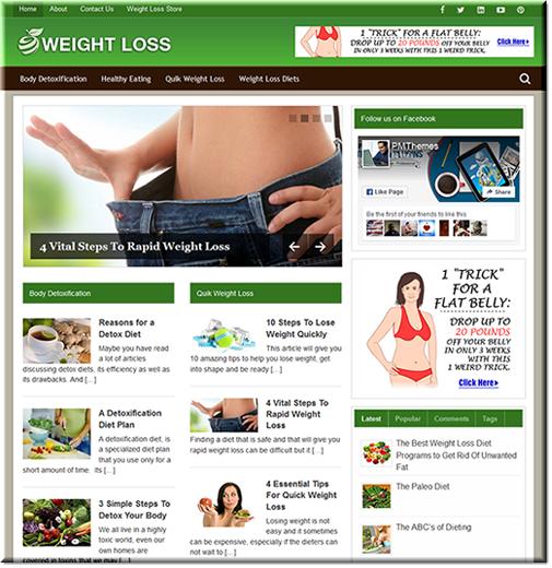 Weight Loss PLR Niche Blog