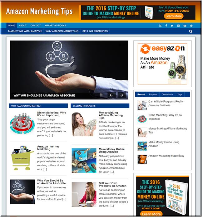 Amazon marketing plr blog