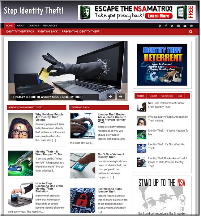 Identity Theft Ready Made Blog