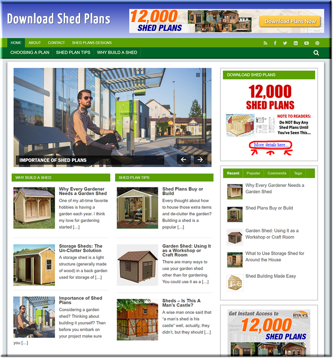 Shed Plans Ready Made WP Site